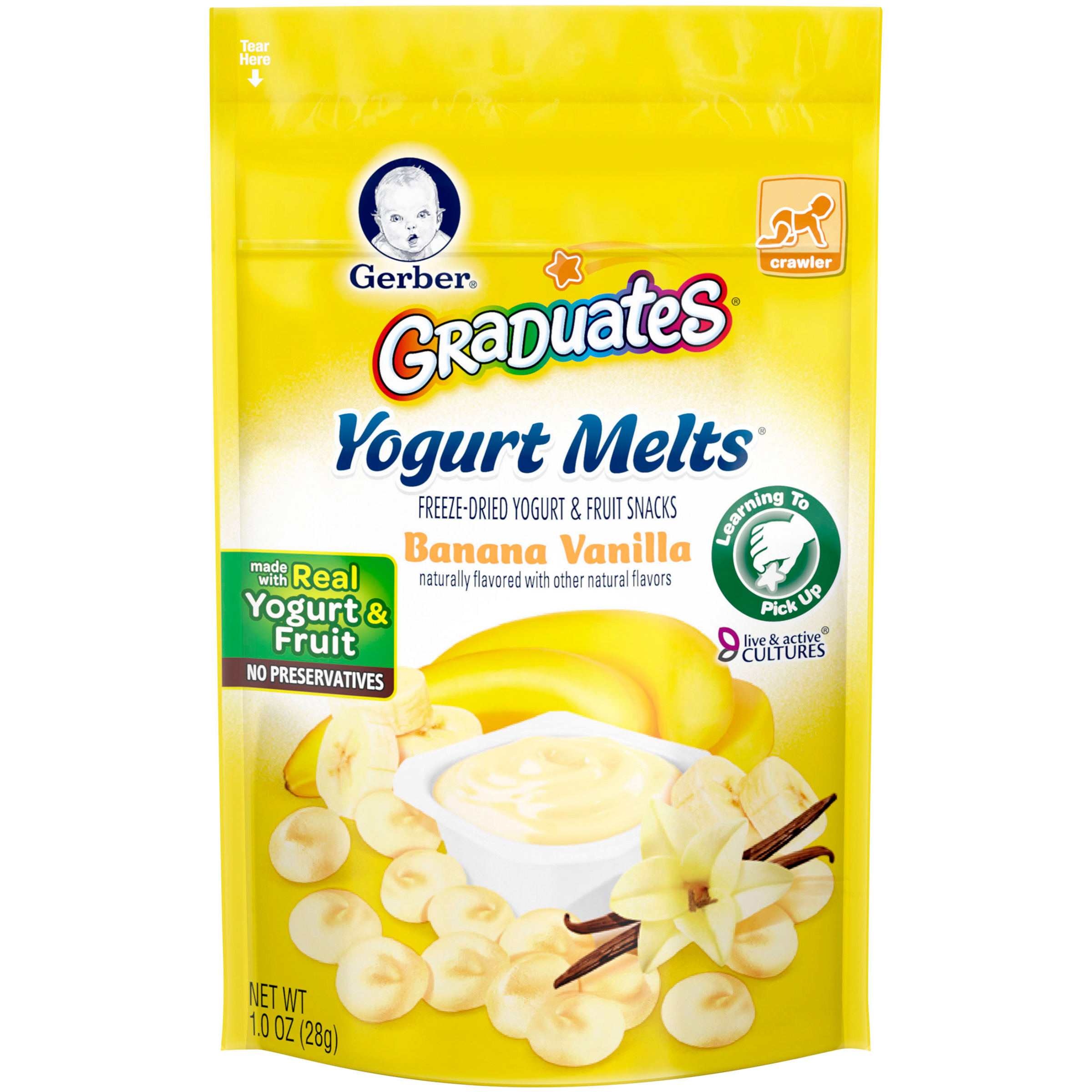 Gerber Graduates Yogurt Melts Banana Vanilla