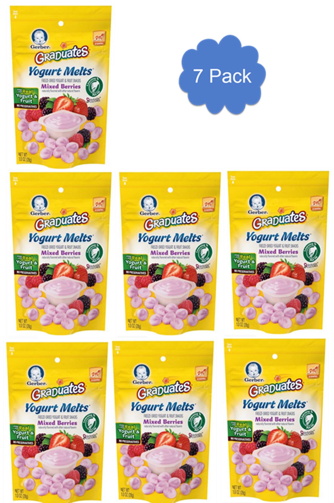 Gerber Yogurt Melts 7 Pack Mixed Berry