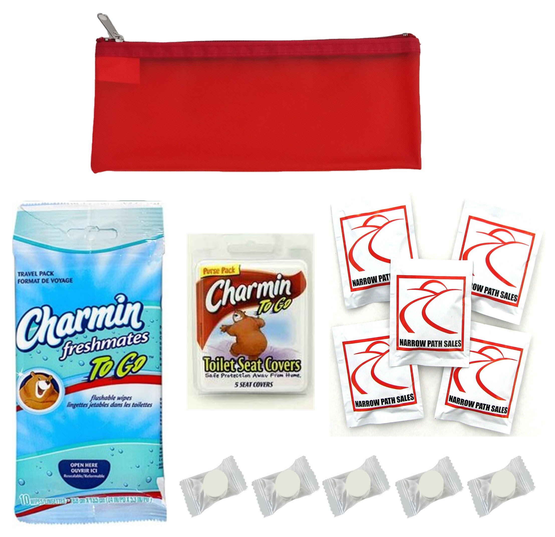 Public Toilet And Restroom Survival Kit Toiletry Bag For